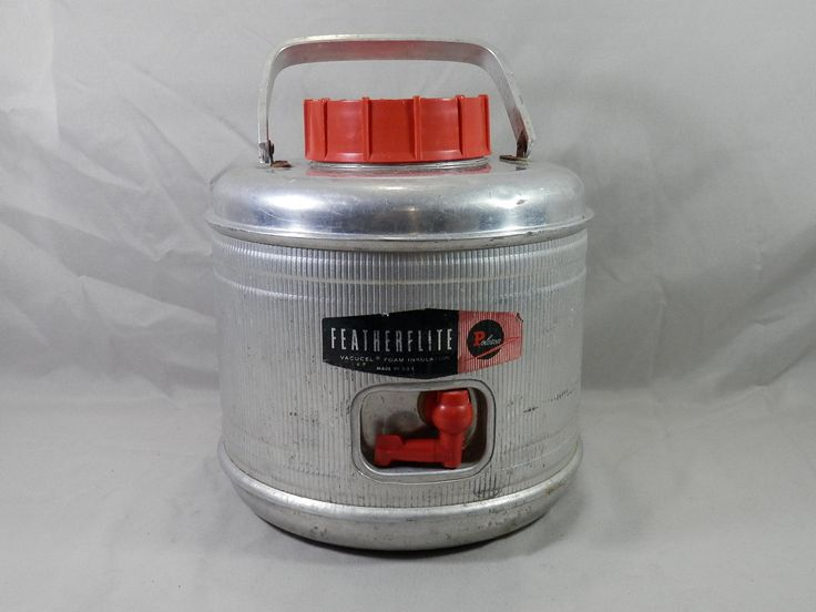 Vintage Poloron 2 Gallon Featherflite Aluminum Insulated Water Jug Cooler Retro By Caymanhilldesigns On E Miniature Display Cast Iron Pot Belly Stove Water Jug