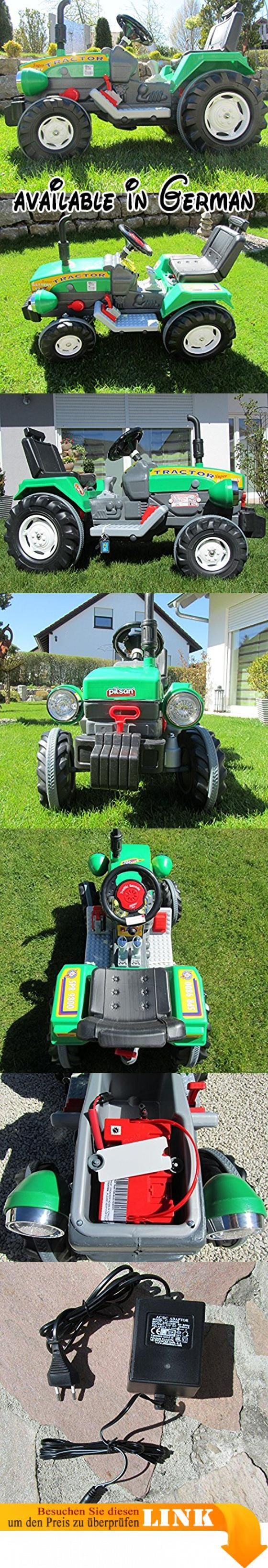 "Super Traktor mit 2 Motoren je 12V Traktor Fahrzeug""Top Qualität"" 05210. Kindertraktor. Traktor. Elektro Traktor. Schlepper. Maße: 102 x 55 x 66 cm #Sports #SPORTING_GOODS"