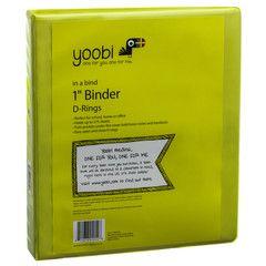Green binder from Yoobi