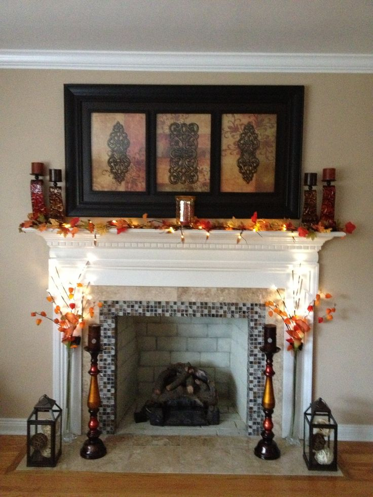 31 best fall fireplace decor images on fall