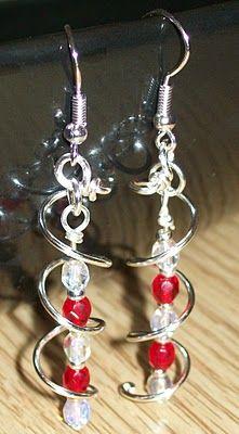 spiral earrings tutorial