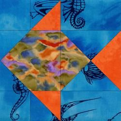 Mandarin Fish Quilt Blocks Kit