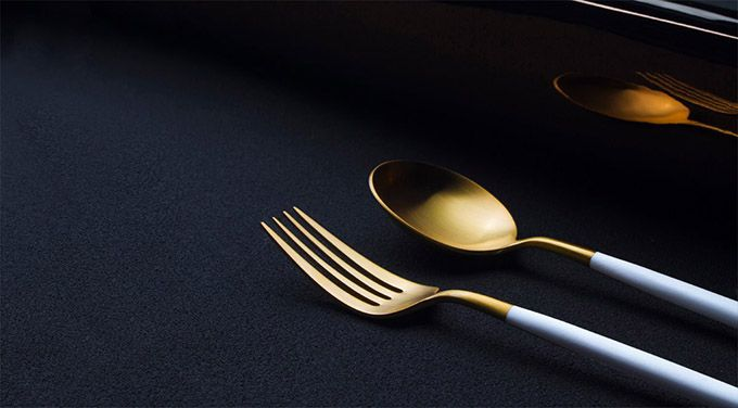Matt White Gold 24 Piece Cutlery Set - The Cool Hunter