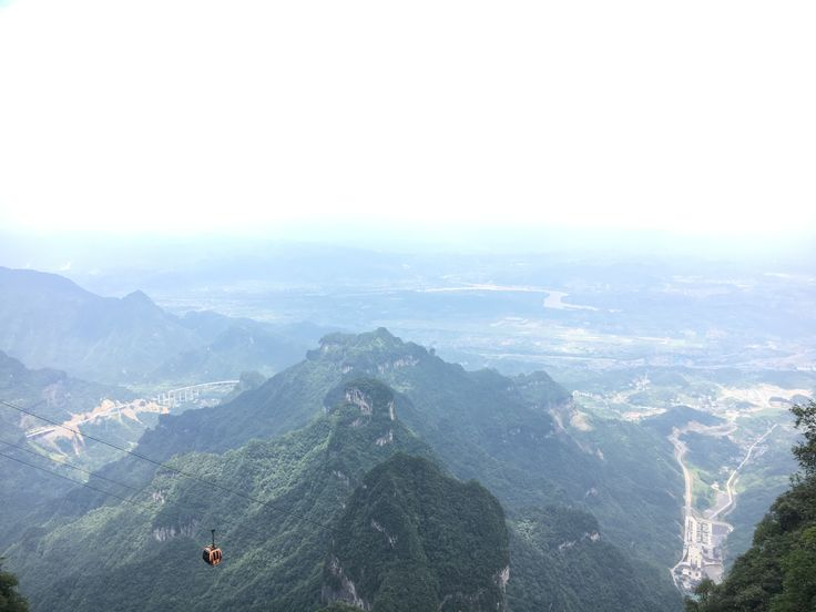 The highest and longest cable car in the Tianmen Mountain, Zhangjiajie, China