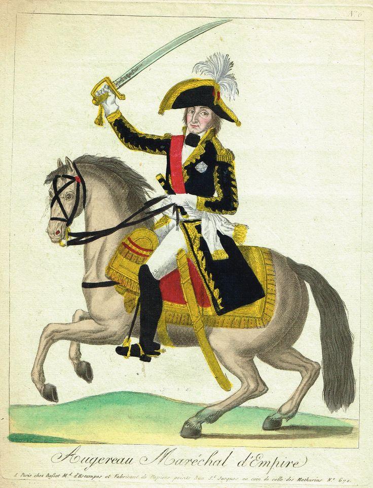 AUGEREAU - Maréchal d'Empire - à Paris chez Basset