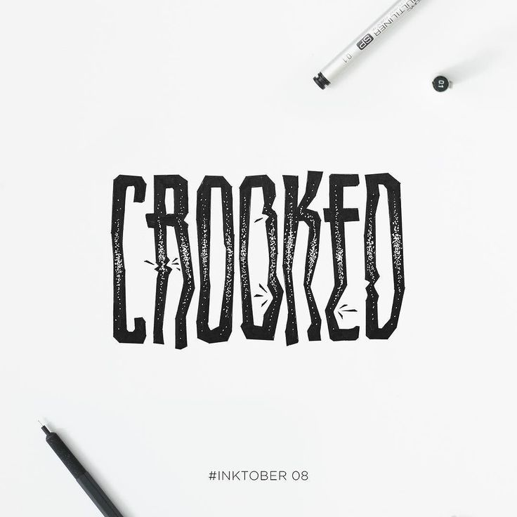 Crooked. #inktober 08.