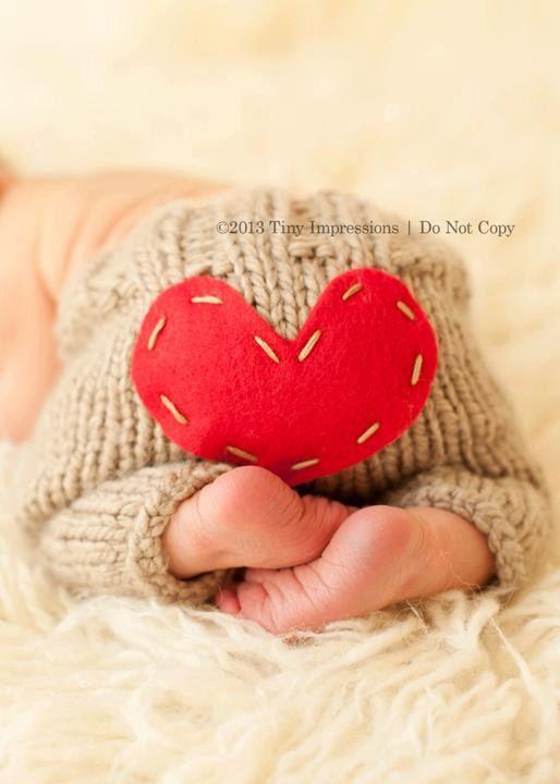Valentine's Day - Longies - Newborn Knit Pants by MySweetKnittings