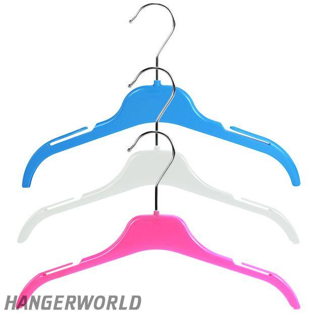 Children's Colourful Plastic Top Hangers - 30cm