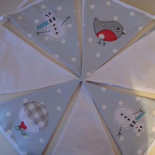 Applique Christmas bunting