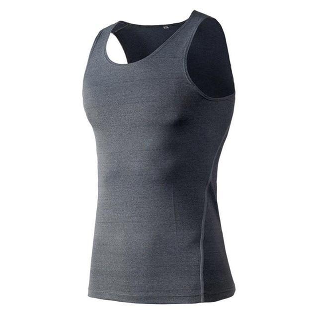 Summer Quick Dry Men'S Compression Tights Tank Top Men Fitness Sleeveless Vest Men Clothes 2018 Plus Size