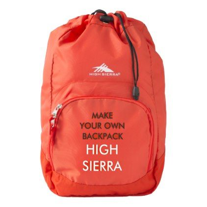 Custom Personalized Red High Sierra Backpack - create your own gifts personalize cyo custom