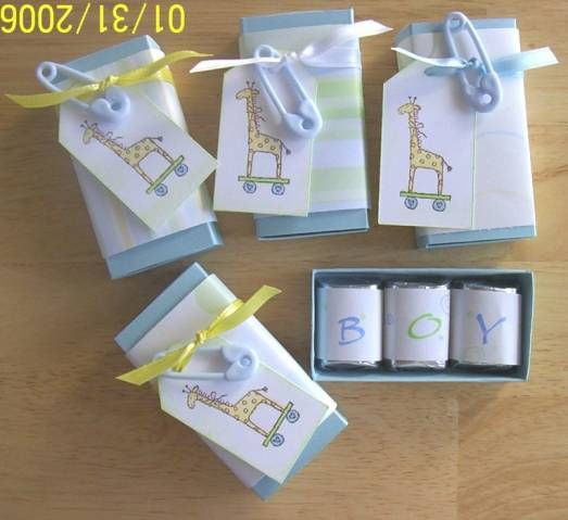Baby Shower Favors Nugget Boxes