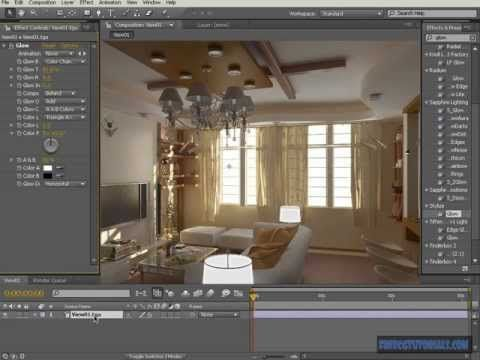 rendering interiors using 3ds max, vray, after effects