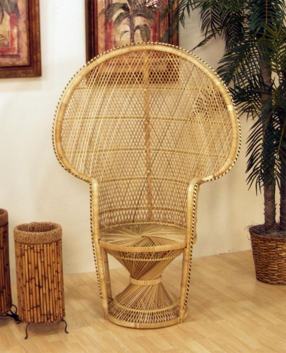 Fan Back Wicker Chair Semco Rocking Cane Queen Buri By Hospitality Rattan Americanrattan Com Living Space Pinterest Peacock And