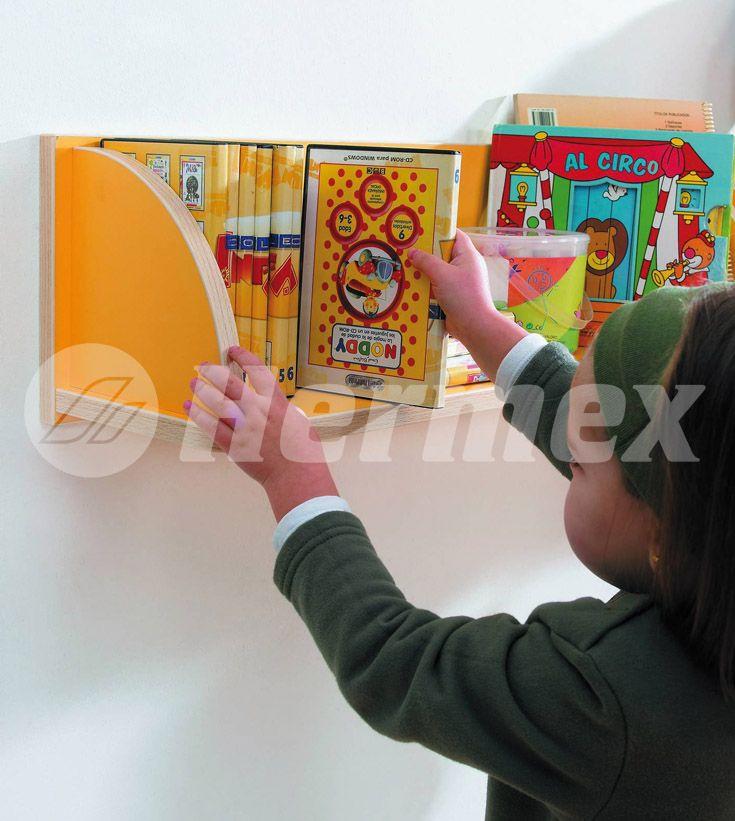 Estanter a para libros de ni os bibliotecas infantiles - Estanteria pared infantil ...