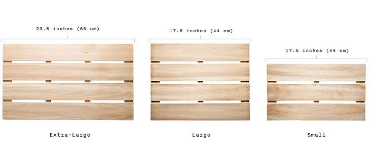 Japanese Cypress Wood Bath Mat - Kaufmann Mercantile