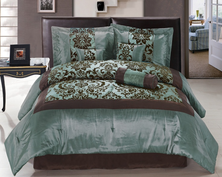 61 best Turquoise and Brown Bedding images on Pinterest ...