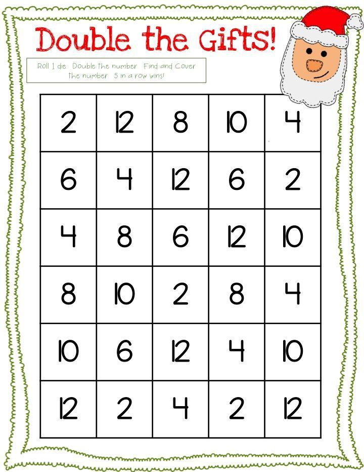 Free! 3 Dice Christmas Math Games