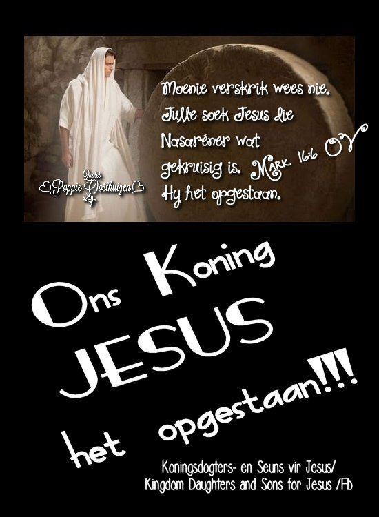 Christelike Boodskappies: DIE  OPSTANDING