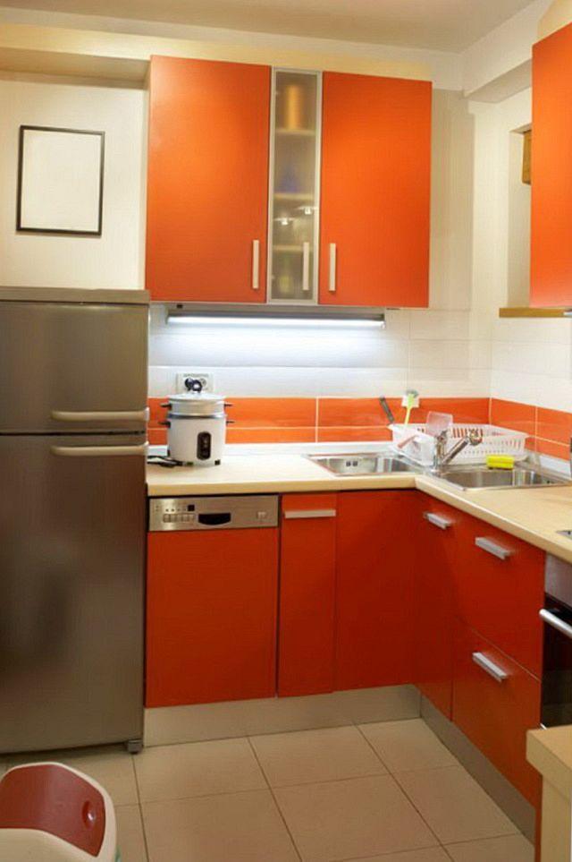 25 best ideas about orange kitchen designs on pinterest - Kitchen design small space gallery ...