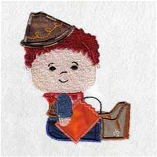 Cowboy Costume Embroidery Design | AnnTheGran