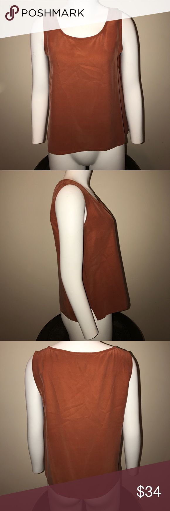 Eileen Fisher Silk Tank Excellent condition. Burnt orange/caramel color. 100% silk. Eileen Fisher Tops Tank Tops