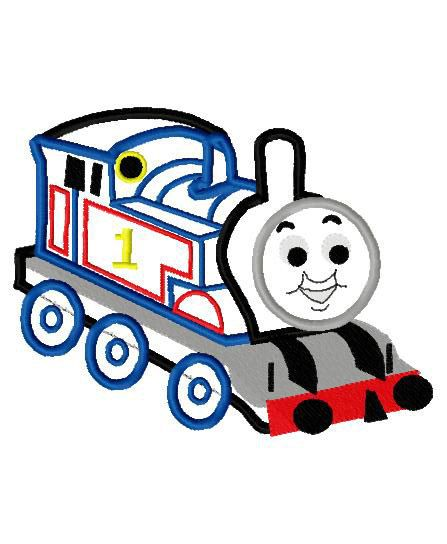 Tank Engine Thomas Applique Design Instant Download Embroidery