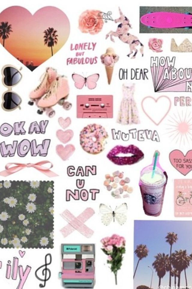 girly collage wallpaper - photo #10