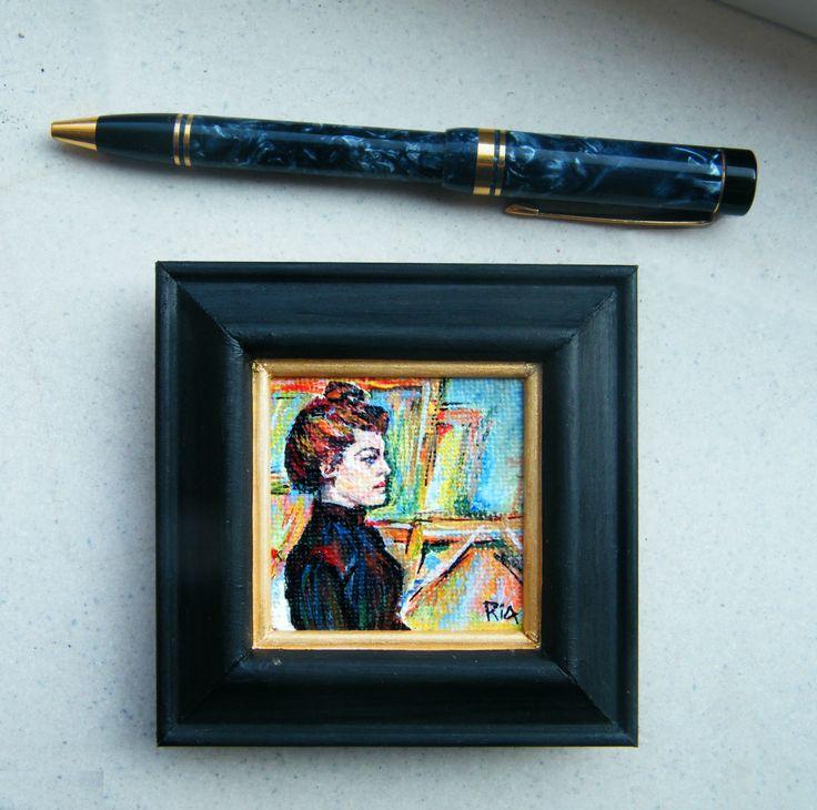 After Toulouse Lautrecs Helen. Miniature paintings - www.riaskunstenkitsch.nl