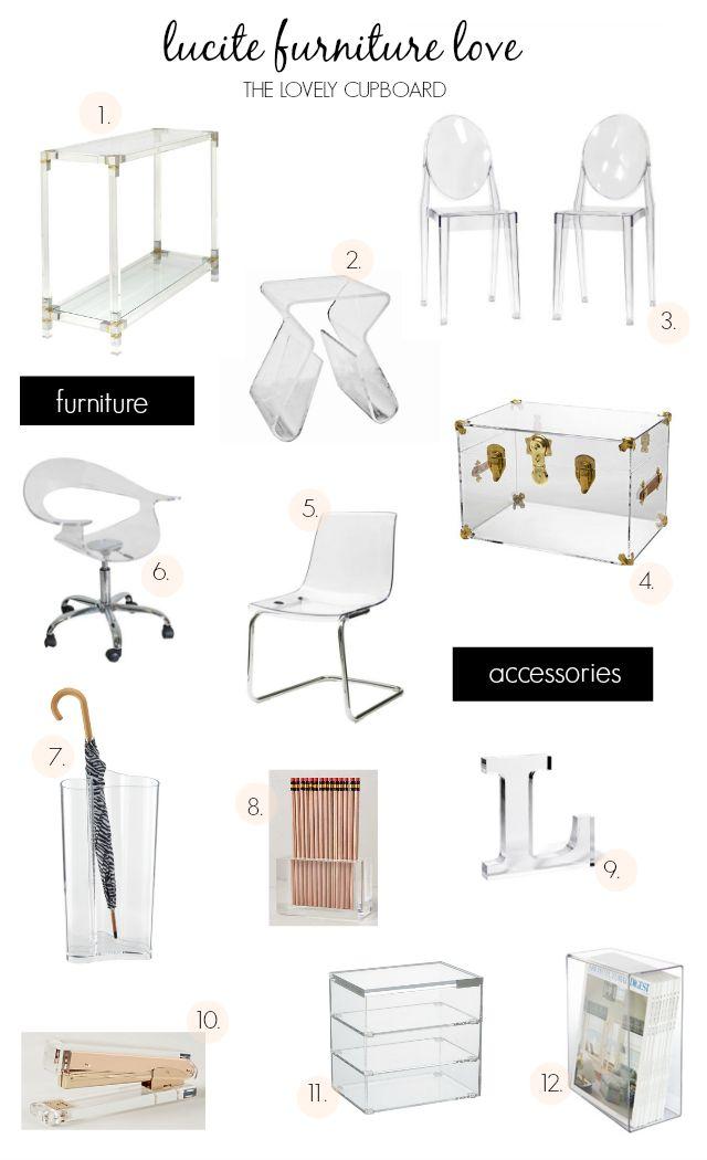 Lucite Furniture Love #lucite #furniture #interiors