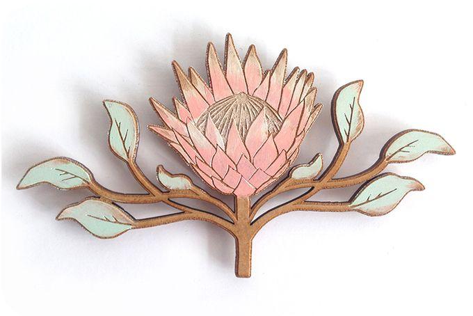 Protea Fridge Art by met Liefde