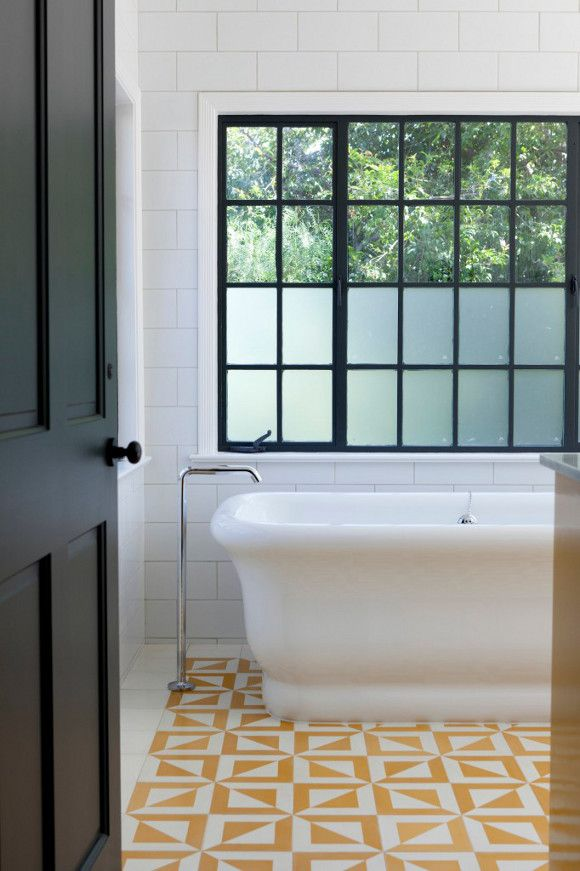 desiretoinspire.net - The tiles and the bathtub. Also strong graphic elements (inc the black door)