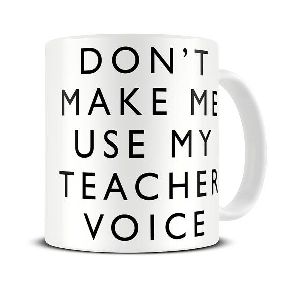 Teacher Gifts - My Teacher Voice Coffee Mug - funny teacher gift mug - MG443
