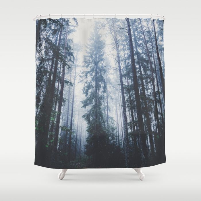 The mighty pines Shower Curtain by HappyMelvin. #homedecor #nature #wanderlust #forest #showercurtains