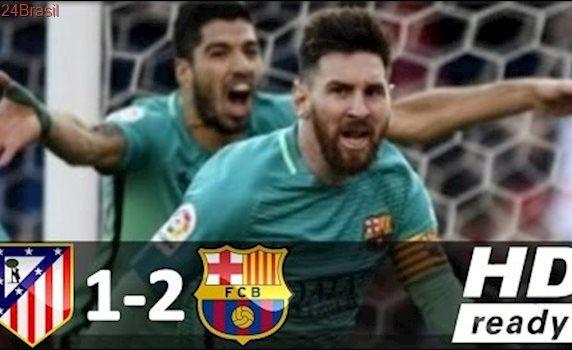 Atlético de Madrid 1 x 2 Barcelona - Melhores Momentos - Campeonato Espanhol 26/02/2017 HD
