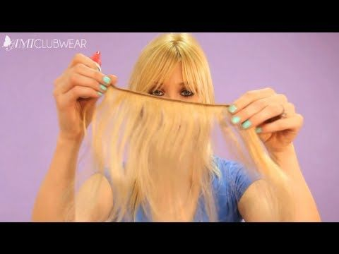 AmiBeth is known for a lot of things, she's a singer, she's a mermaid, she has amazing hair... Today she shares with us a inexpensive way to wear hair extensions with a DIY Halo Hair Tutorial.  All you need is some hair extensions, some fishing line, scissors and some super bond (bonding glue) and you're all set!    You can get Ami's  Gangam Style...