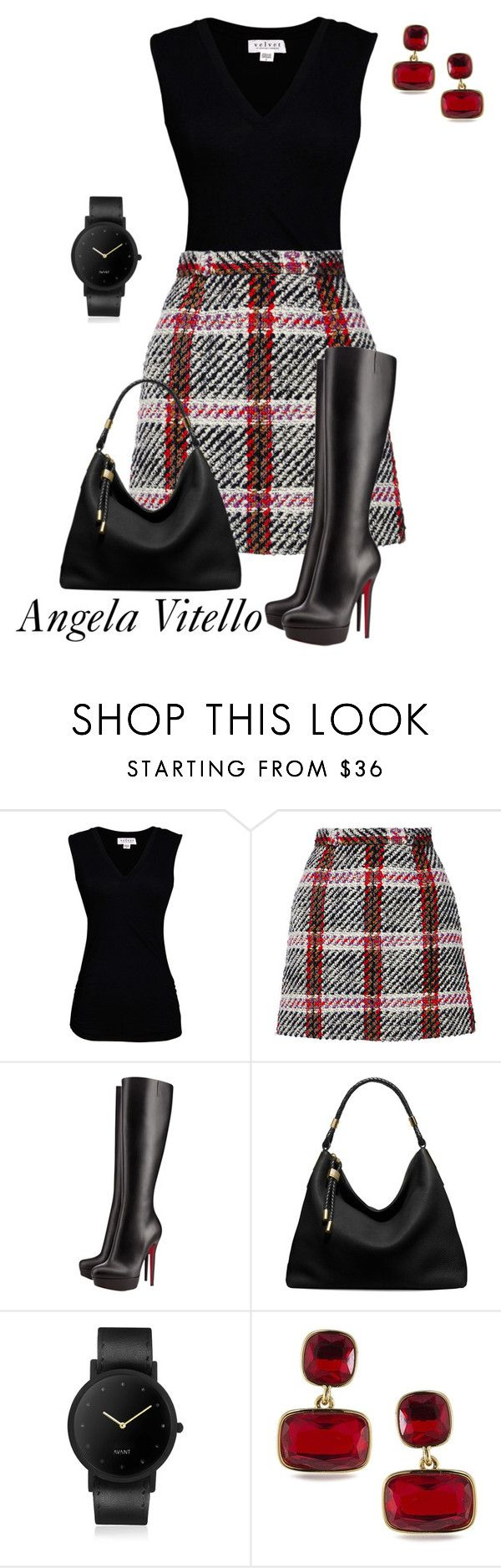 """Untitled #918"" by angela-vitello on Polyvore featuring Velvet by Graham & Spencer, Marni, Christian Louboutin, Michael Kors, South Lane and Lauren Ralph Lauren"
