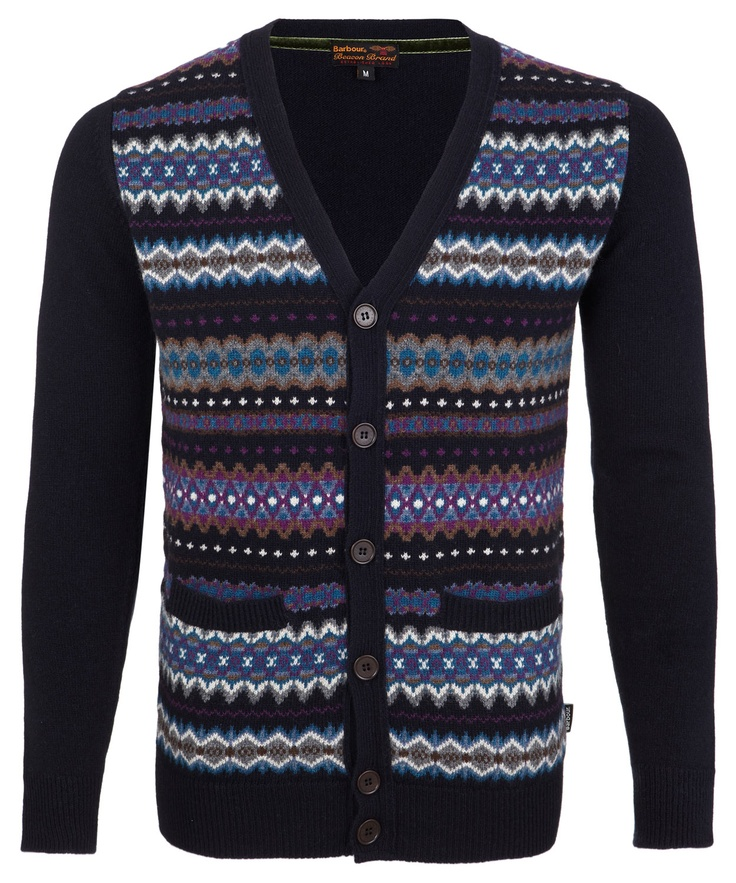 Navy Fair Isle Cardigan, Barbour. Shop more knitwear from the Babour collection online at Liberty.co.uk