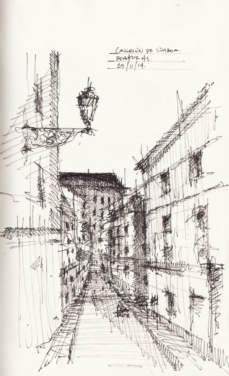 Croquis - Lisboa - por Facundo Alvarez