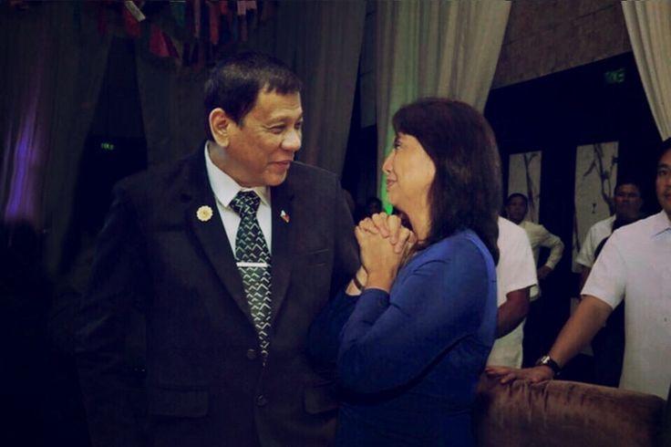 President Rodrigo Duterte and VP Leni Robredo together on a private party.