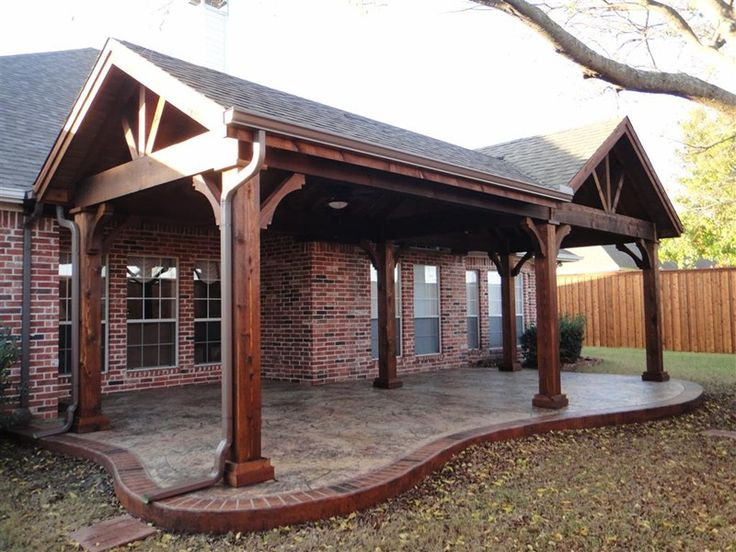 View Our Full Gable Patio Covers Gallery   We Provide Completely Waterproof  Structure To Cover A New Or Existing Patio. Attach To The Existing Home Or  Build ...