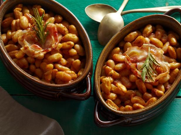 Tyler makes his Ultimate Baked Beans from scratch. Chipotle chiles in adobo give them a nice kick, while rosemary and pancetta add an Italian twist.