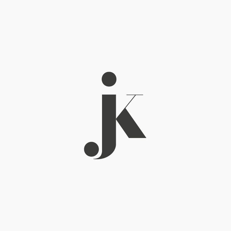 Design by http://ottocliman.it JK, Monogram, logo, design, graphic, letter, typography, jk logo, experiment, simple, minimal, design, brand, idea, mark, symbol, logotype, logogram, j, k, elegant, classy, classic, fashion, style, vintage