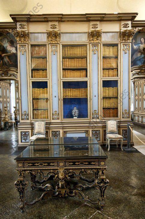 Stupinigi Palace library , Turin , Italy