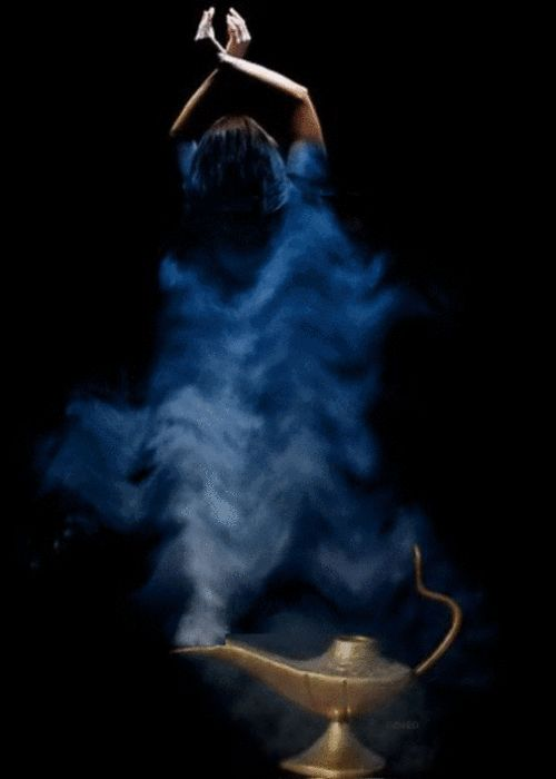 Animated Genie Bottle & Blue Smoke (click through to see animation) Artist Unknown) Animation on http://www.socialphy.com/posts/images-pics/12066/The-best-gif-part-3-_-Fabianelv-_.html