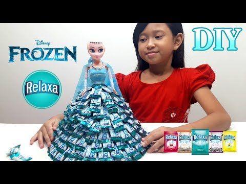 Mainan Anak Boneka Frozen Elsa  Membuat Baju Elsa dari Permen RELAXA  Let's Play Jessica  - YouTube