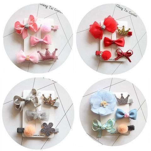 Children bowknot cute hair clips for girls baby headdress hairpin suits series of classic hair accessories kids headwear MT-74