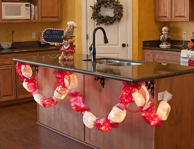 Candy Garland Tutorial.  Seriously, so cute.  Looks like jumbo taffys strung together.  So fun!