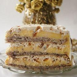 Torte Egyptian - delicious caramel and hazelnuts cake.
