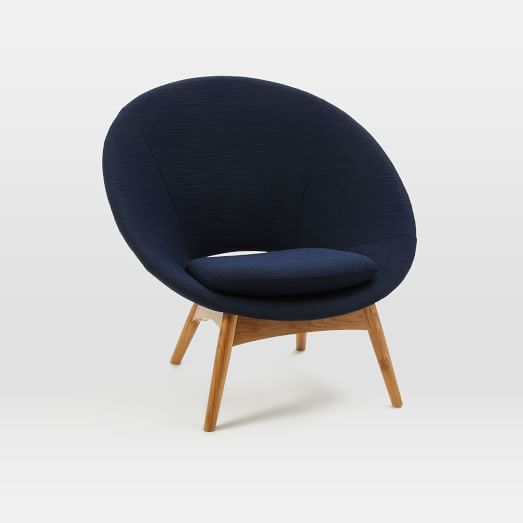 Luna Chair, Twisted Slub, Nightshade
